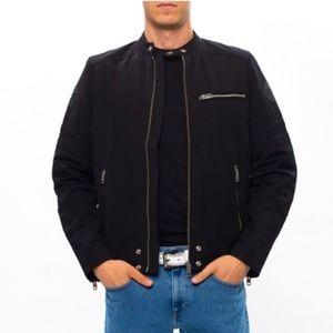 Hugo Boss Black Motto Zipper Cotton Blend Jacket